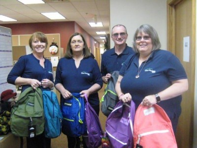 Preston County Managers Delivering Backpacks 2020